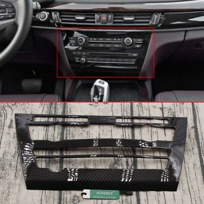 Carbon Fiber Dashboard Air Condition Media Panel Trim For BMW X5 2014-2018 2017