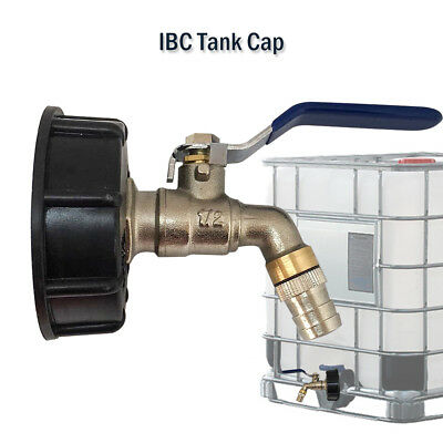 """IBC Tank Adapter to 3/4"""" Lever Brass Garden Tap Valve Tap Outlets Fitting AU"""