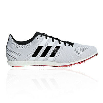 640e4e1d7ce8 adidas Unisex Adizero Avanti Running Spikes Traction Black White Sports