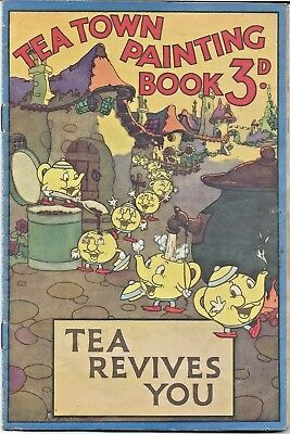 Rare vintage Lipton tea advertising painting book