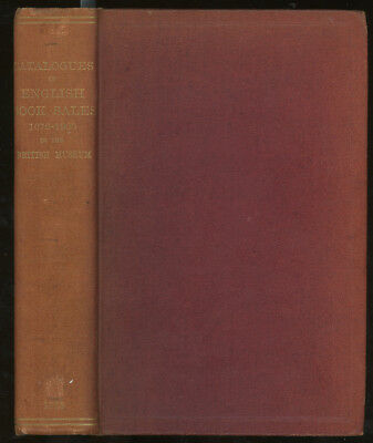 Trustees of the British Museum / List of Catalogues of English Book Sales 1st ed