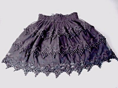 MEXX Girls Black Lace Skirt Sizes 8 9 10 European Import MSRP U.S.$54