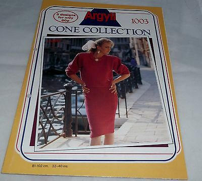 ARGYLL CONE COLLECTION MACHINE KNITTING PATTERN No.1003 (5 designs)(sweaters)