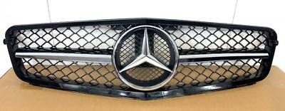 Mercedes C Class W204 2007-14 Grille - AMG Black Mesh Single Fin Grille