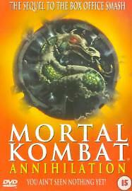 Mortal Kombat: Annihilation Dvd Robin Shou Brand New & Factory Sealed