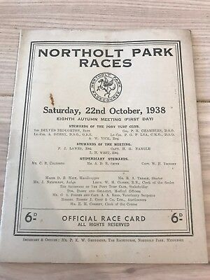 Closed Racecard And Ticket Northolt Park Pony Races