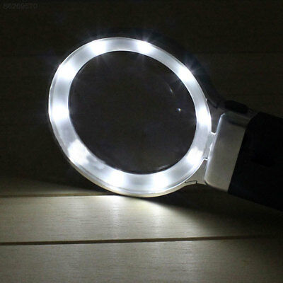 71AE 10LED Magnifier Foldable Desk Lamp Desktop Lighting With Magnifying Glass