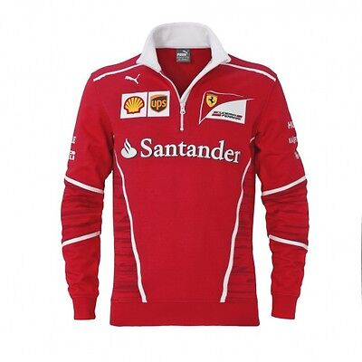 F1 Scuderia FERRARI Puma Mens Team Zip Fleece Sweat Jumper – New OFFICIAL *SALE*