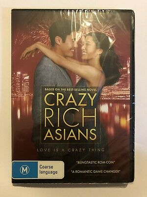 Crazy Rich Asians (DVD, 2018) Brand New & Sealed Rated M Movie 🍿 Aus Release