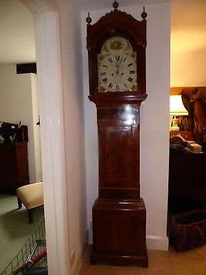 Long case grandfather clock, height 7ft 5in.