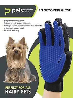 Pets Arc Pet Grooming Gloves for Cats, Dogs - Effective Deshedding Pet Glove