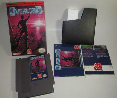 Overlord (Nintendo Entertainment System, 1993) NES Complete CIB Game w/ Map