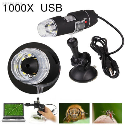 1000X  8 LED Digital USB Microscope Magnifier USB Endoscope Camera With Stand