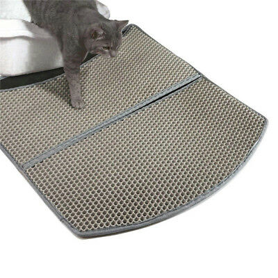 New Double-Layer Cat Litter Box Mat Trapper Foldable EVA Pad Pet Foam Rubber Rug