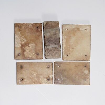 5PCS Authentic Chinese Han Dynasty Craft Natural Jade Chips For Clothes SA238