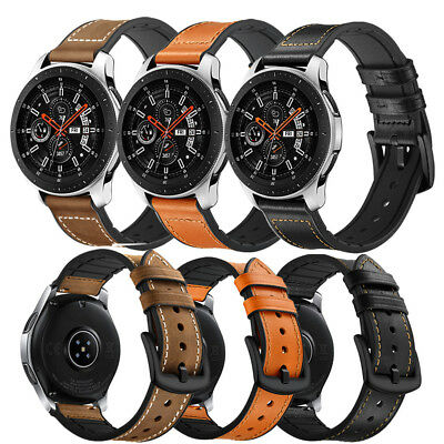 Genuine Leather Silicone Band Strap For Samsung Galaxy Gear S3 Watch 42mm 46mm