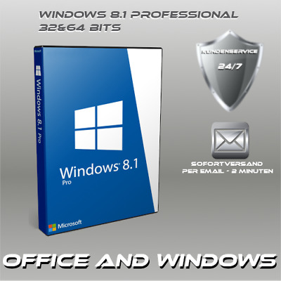 Microsoft Windows 8.1 Professional, Win 8.1 Pro, OEM, Produktkey per E-Mail