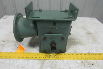 "Hytrol Worm Gear Box Speed Reducer 20:1 Ratio 3/4"" In 1"" Output Shafts"