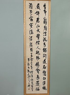 Long Chinese Hand Writing Calligraphy Character WangDuo Old Scroll Painting YY09