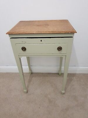 Small Antique Table With Cutlery and Storage
