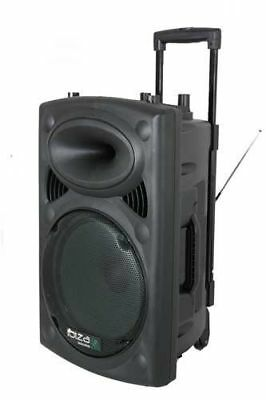 GUT: Ibiza Port15VHF-BT mobile 38cm PA-DJ-Anlage PA-Box Bluetooth Lautsprecher