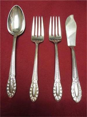 Southgate-Wallace Silver Plate 4 Pcs./2 Salad fork Oval Soup & Master Butter-29c