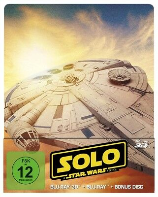 Ron Howard - Solo: A Star Wars Story 3D, 3 Blu-ray (Steelbook Edition)