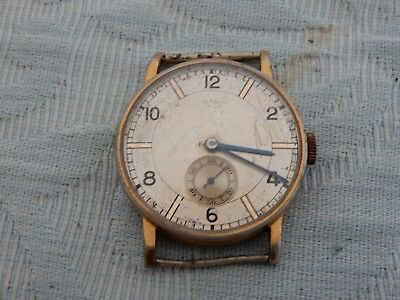 Original 1930's Large Art-Deco Dial wristwatch, original condition to restore
