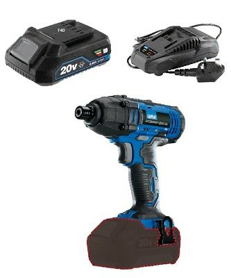 "Draper 20V Cordless 1/4"" Hex Impact Hammer Driver & 2Ah Battery + Charger 89520"