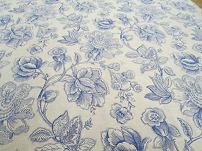 Trend Fabrics Pattern 03673 Color Delft 4.5 Yd x 54 In Linen Floral