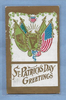 VINTAGE POSTCARD ST. PATRICK'S DAY CARD EMBOSSED POSTED 1909 #1sp LISTING OTHERS