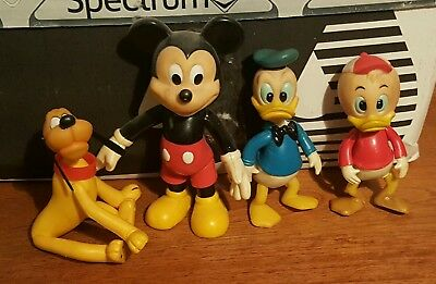 Disney Amusement Park Characters Mickey Mouse Pluto Donald Duck Vintage 1970's