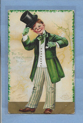 VINTAGE POSTCARD ST. PATRICK'S DAY CARD EMBOSSED POSTED 1909 #2sp LISTING OTHERS