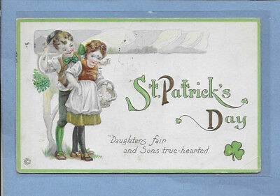 VINTAGE POSTCARD ST. PATRICK'S DAY CARD EMBOSSED POSTED 1922 #3sp LISTING OTHERS