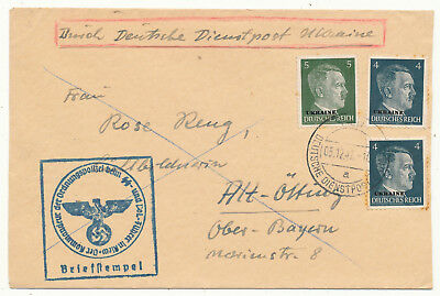 German Occupation Ukraine Ww Ii # 3, 4, Cover Official Mail Dienstpost (1942)