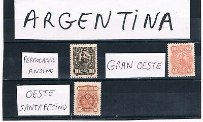 Argentina-Railway Telegraph  Ferrocarril ( Railway ) - 3  Mnh  Stamps
