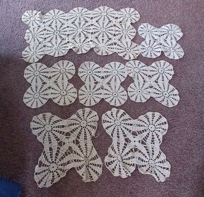 Vintage Crocheted Doilies,doily,lot Of 7