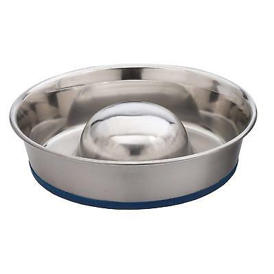 Our Pets DuraPet Slow Feed Premium Stainless Steel Dog Bowl