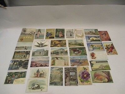 Vintage Early  900's Mixed Lot Lithograph Print Post Cards See Pictures
