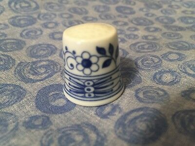 Hutschenreuther Blue & White Floral Thimble - Germany