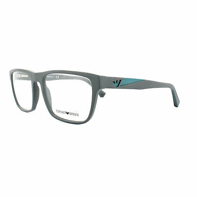 18b485242a5 Emporio Armani Glasses Frames EA3080 5502 55MM Matte Grey Mens Optical Frame