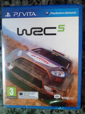 WRC 5 FIA World Rally Championship PS Vita Nuevo Carreras PAL España In English*