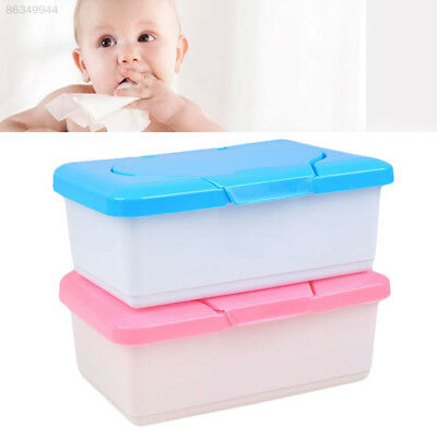 C1DE Wet Tissue Plastic Box Baby Wipes Pop-up Design Home Tissue Holder