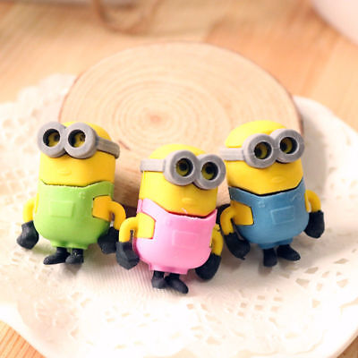 1PCS  Rubber Pencil Eraser Stationery Kid Children Novelty Minions Cute Gift Toy