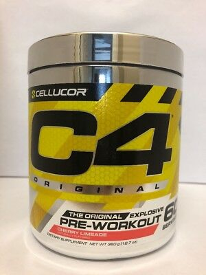 Cellucor C4 Pre-Workout iD 60 Servings CHERRY LIMEADE SLIGHT CLUMPY EXP 1/19