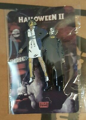 Halloween 2 Fright Rags Enamel Moving pin Michael Myers Brand New