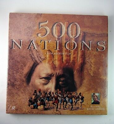 500 Nations Laserdiscs Kevin Costner Explores America's Indian Heritage BOX NEW