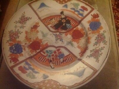 18th century Chinese porcelain plate with 6 character marks