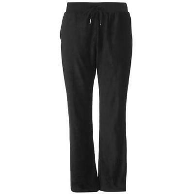 97c167521a6 Rock   Rags Ladies Velour Jogging Bottoms Black Velvety Womens UK Size M  Medium