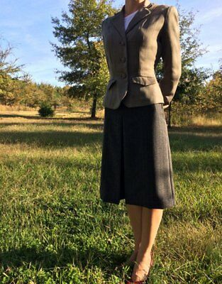 1943 Reproduction Ladies Tailored Suit Jacket, Wool *WWII authentic*